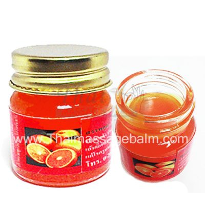 orange massage balm